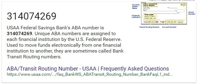 What Is Usaa >> What Is The Routing Number For Usaa Quora