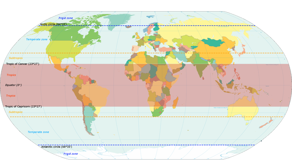 Which part of the world has the best weather throughout the year attribution world map indicating tropics and subtropics by kvdp own work licensed under cc by sa 30 via wikimedia commons fileworld map indicating gumiabroncs Image collections