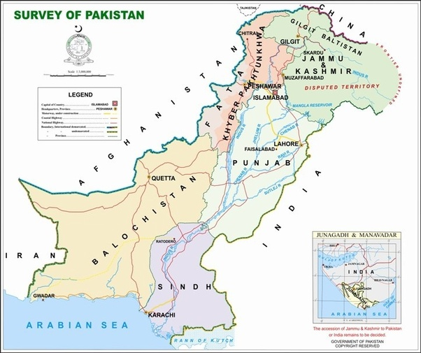What is the official true map of Pakistan? - Quora