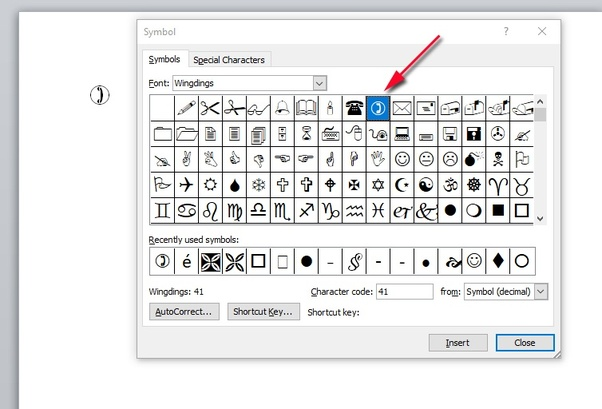 how to insert the telephone symbol in microsoft word