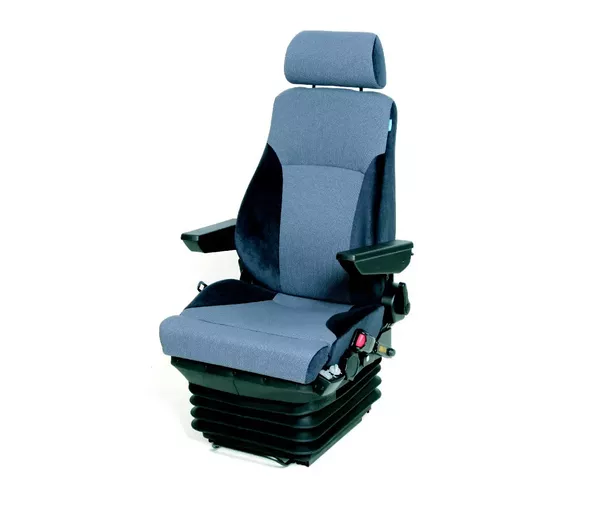In The Above Heavy Vehicle Driver Seat, Suspension And Height Adjustment  Mechanism Are Covered Inside The Rubber Bellow.