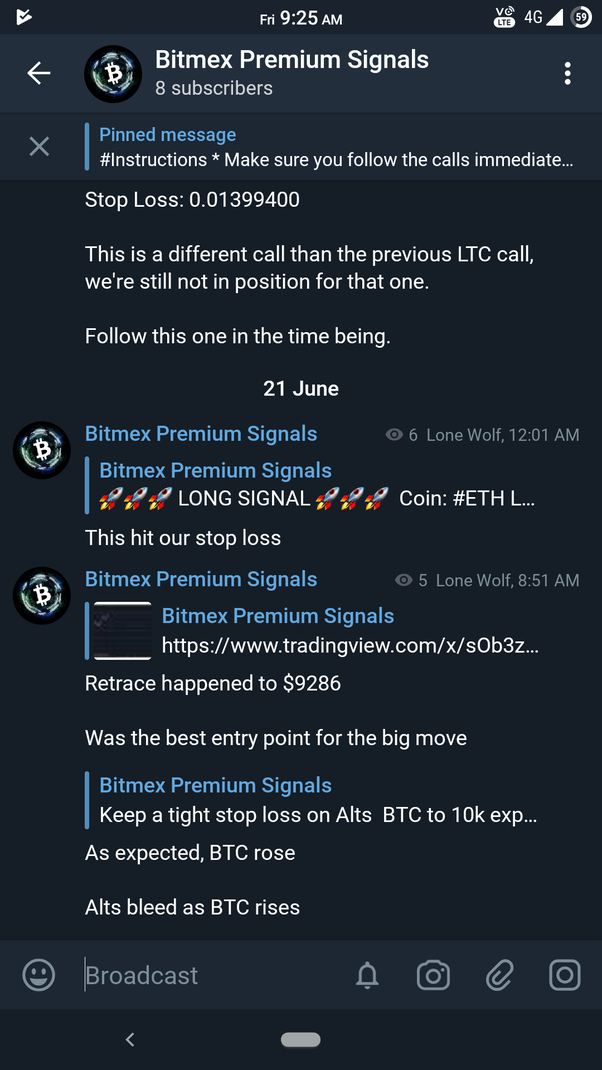 Which is the best bitMEX signal provider on telegram channel? - Quora