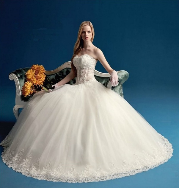Which type of wedding gown is best for wedding photography? - Quora