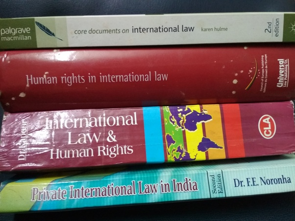 Which book is the most preferred for international law in