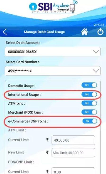 how to change atm password online sbi