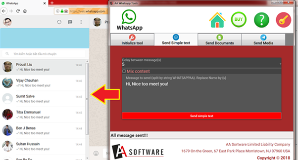 How to send a bulk WhatsApp message from a PC with a large quantity
