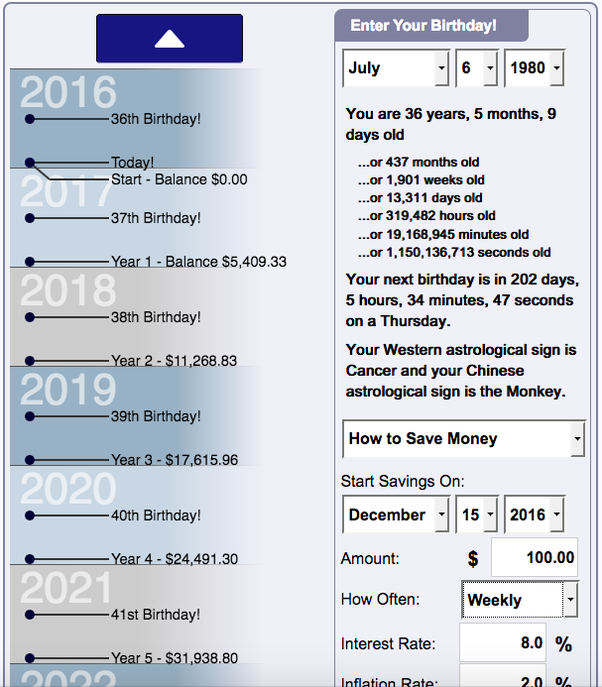 The Calculator Will Show You How Much Money Your Savings Grow Into Year  After Year. Iu0027m Posting Below A Screenshot Of What It Looks Like.