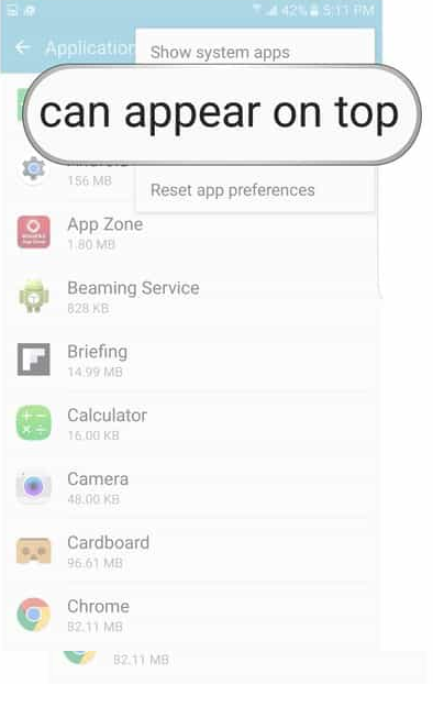 how to fix system overlay in android