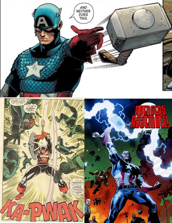 Can Captain America pick up Thor's Hammer? - Quora