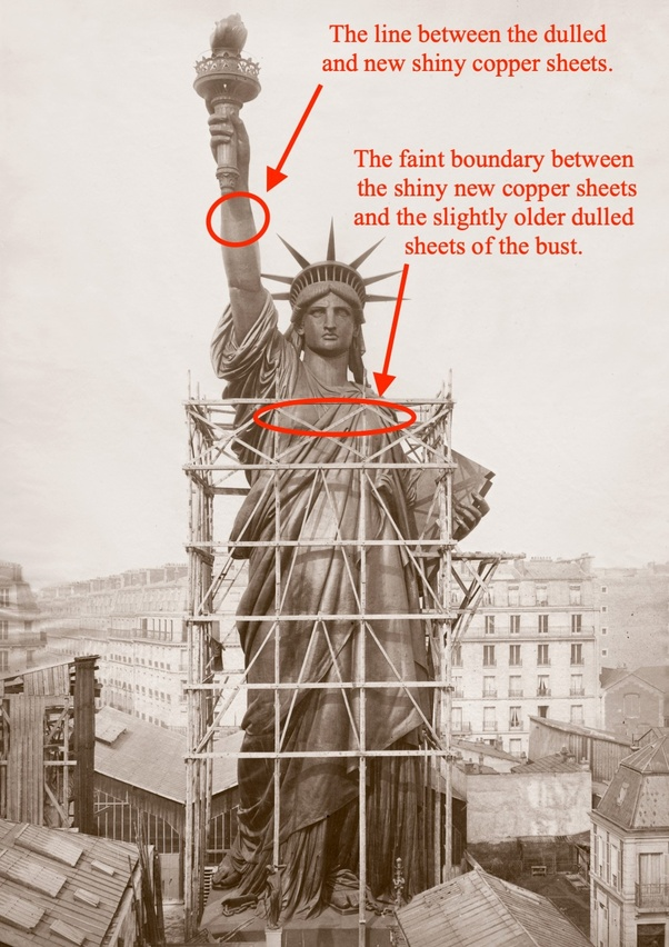 The Statue Of Liberty Is Now Green But It Used To Be