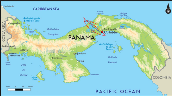 What Two Countries Are On Each Side Of The Panama Canal Quora - Where is panama