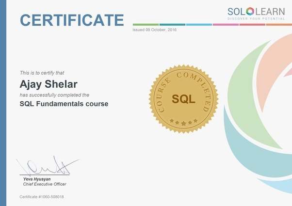 from where can i get a free sql certificate? - quora