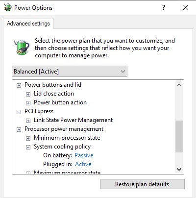 laptop slows down when not plugged in