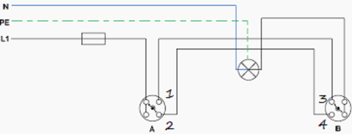 How to wire a double pole light switch - Quora  Way Switch Wiring Diagram on