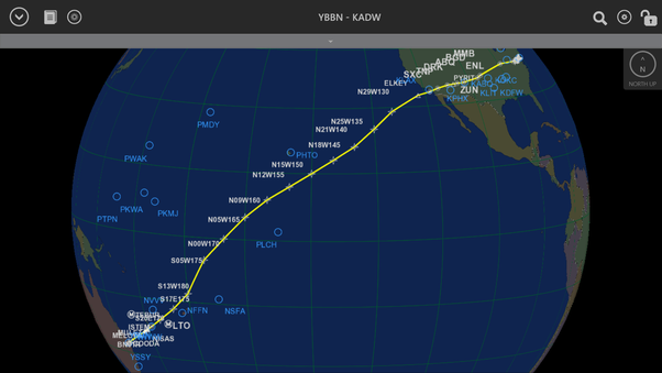 How long does it take to fly from the east coast of the us eg nyc total distance flown in just under 17 hours was 8336 nm so while this isnt a normal revenue flight thats pretty good gumiabroncs