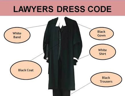 What is the reason behind the black dress code for the lawyer? - Quora