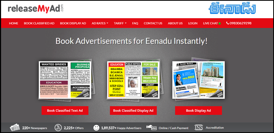 Which agency is best for booking ads in Eenadu? - Quora