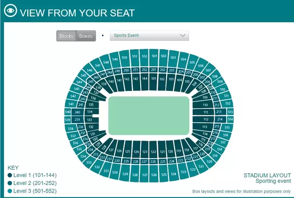 Wembley Stadium Seating Chart Nfl Hospitality Vip Tickets