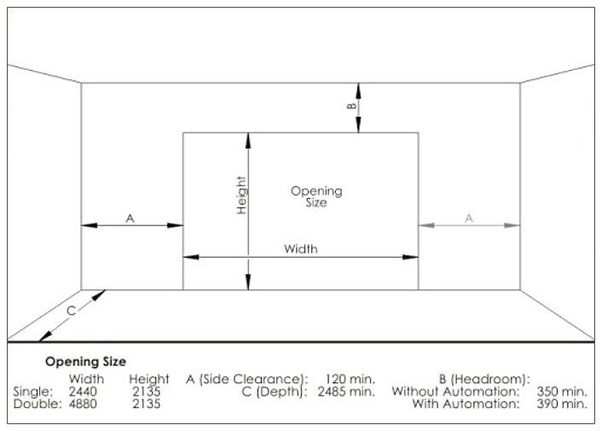 What is the standard garage door height quora for Standard garage size in feet