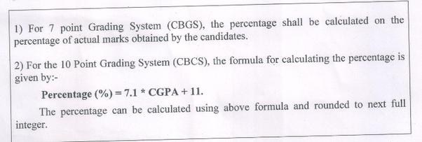 How to convert CGPA to percentage under Mumbai University rules - Quora