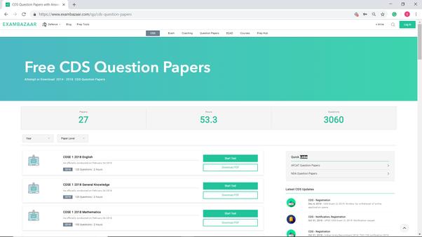 Cds Question Paper Pdf