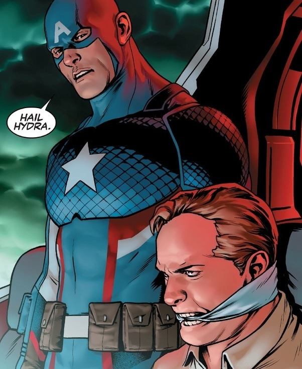 He Was Given An Alternate History Where A Sleeper Agent From The Very Beginning So We Know That Captain America Is Evil Now