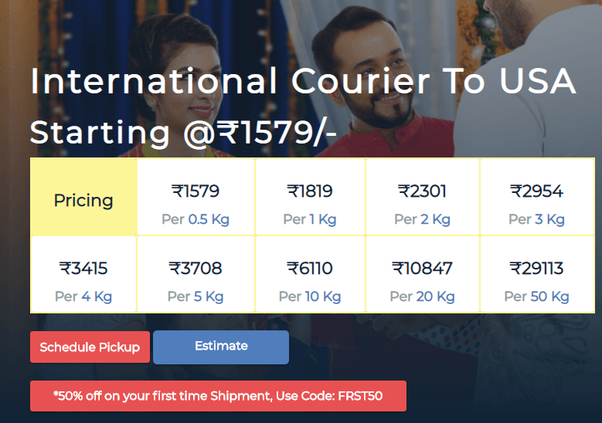 How much are the shipping charges from USA to India? - Quora