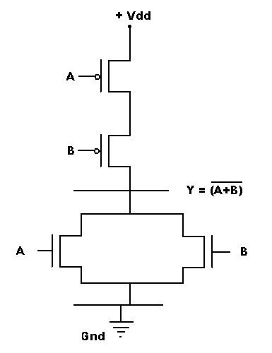 What is the switching circuit of NOR gate Quora