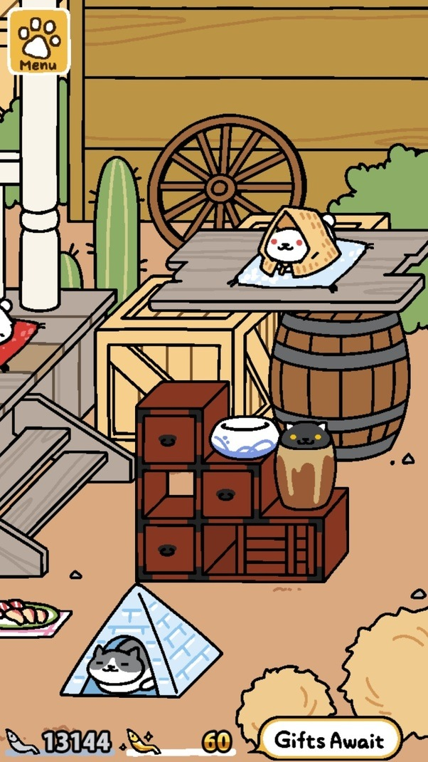 how to attract frosty the new rare cat on neko atsume quora. Black Bedroom Furniture Sets. Home Design Ideas