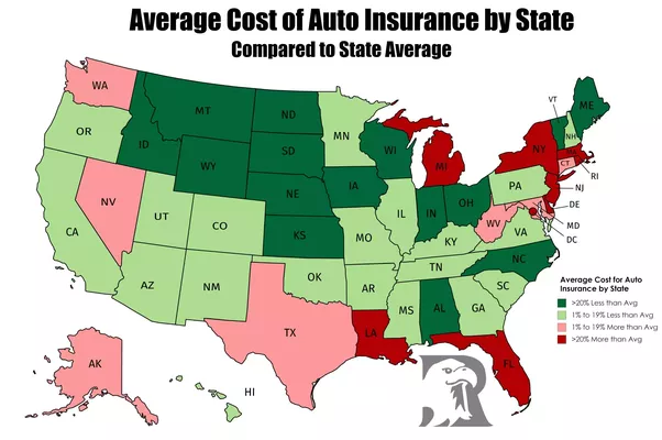 How much does car insurance vary in price by state? Which ...