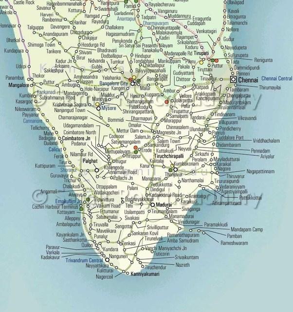 Source: [IRFCA] Indian Railways FAQ: Route Map