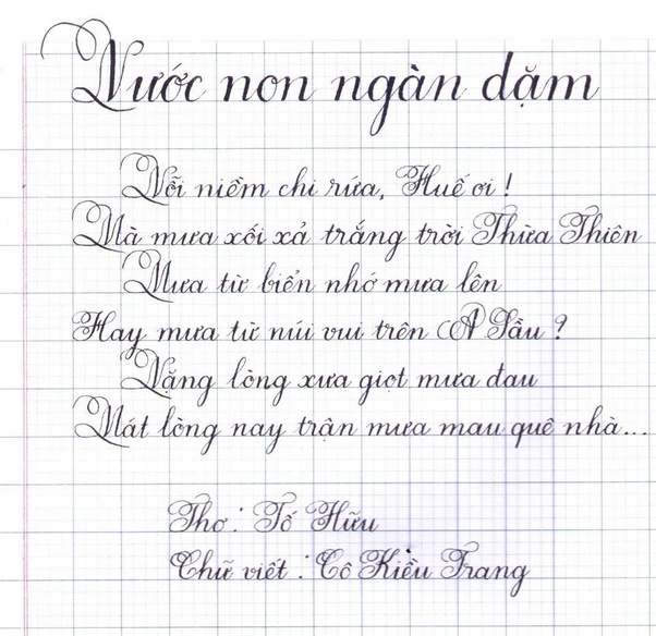 How does Vietnamese calligraphy differ from the ...Vietnamese Cursive
