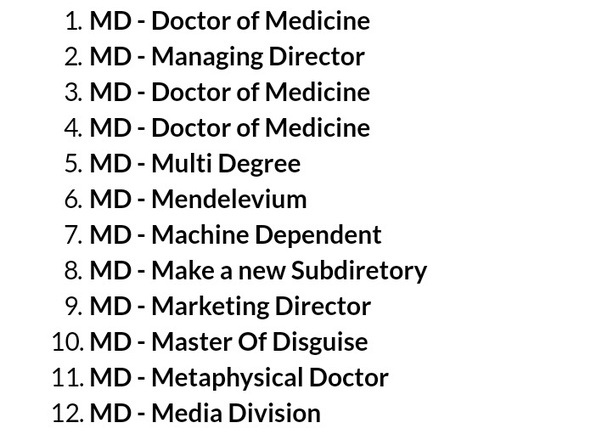 What are the full forms of M D  and D M ? - Quora