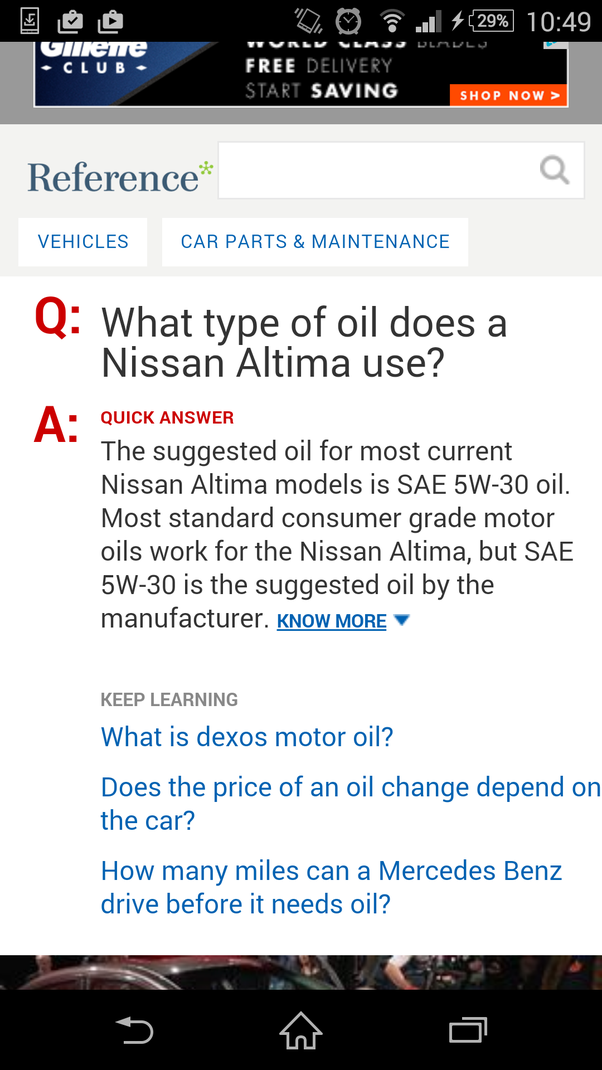 what type of oil does a 2005 nissan altima use quora. Black Bedroom Furniture Sets. Home Design Ideas