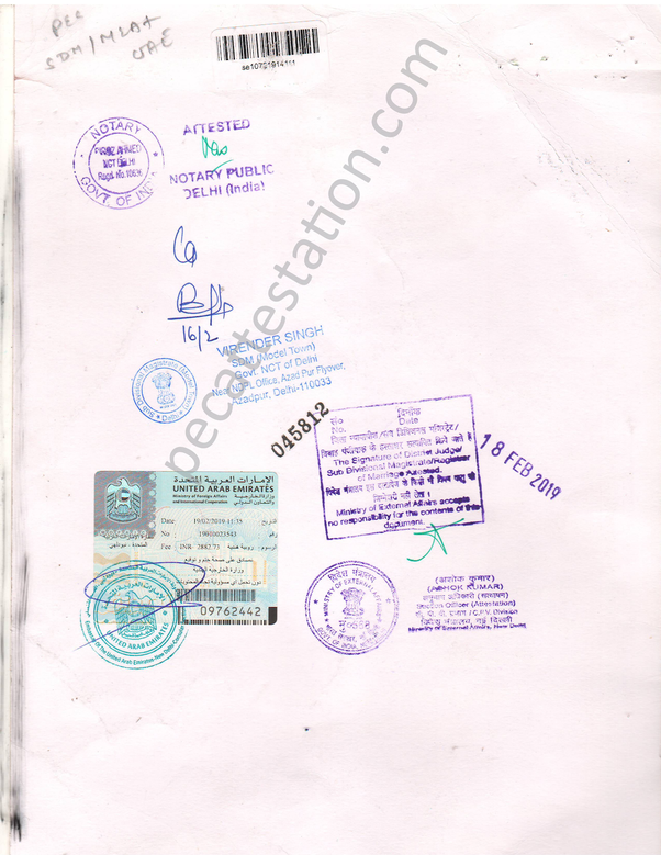 Is original certificate attestation necessary for Indians to