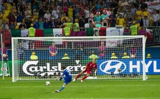 What is the distance between the penalty mark and the goal ...