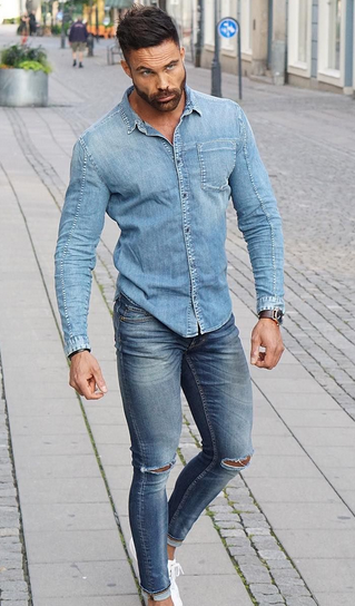 Polo Shirt And Denim Nowadays A Can Be Great Fashion Piece They Are Casual But When Paired With Jeans Boots Become An Easy