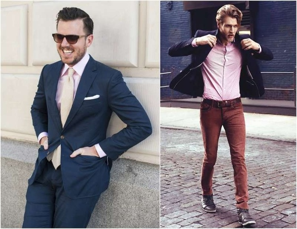 7a2a27a7 Actually in doing an image search, a couple of other quora threads on this  popped up!!! Can you wear a blue suit with a pink shirt?