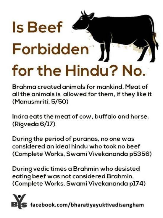 What philosophy do Hindus of Kerala have regarding beef ...