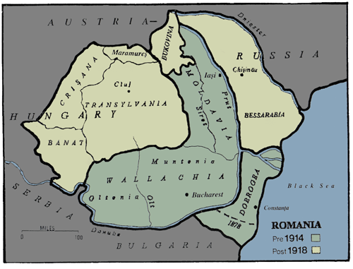 Romania's Territory Before and After the Great War