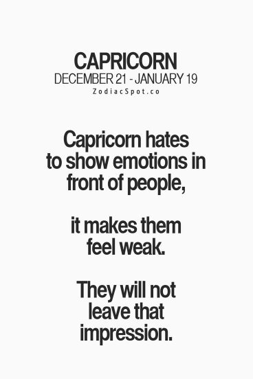 Why are Capricorn's so mixed feelings all the time? - Quora