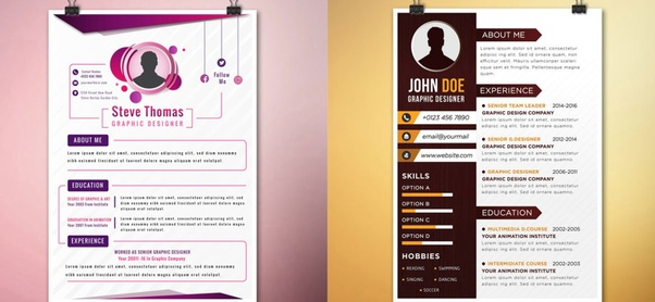 Is It Ok To Add A Design To Your Cv Quora