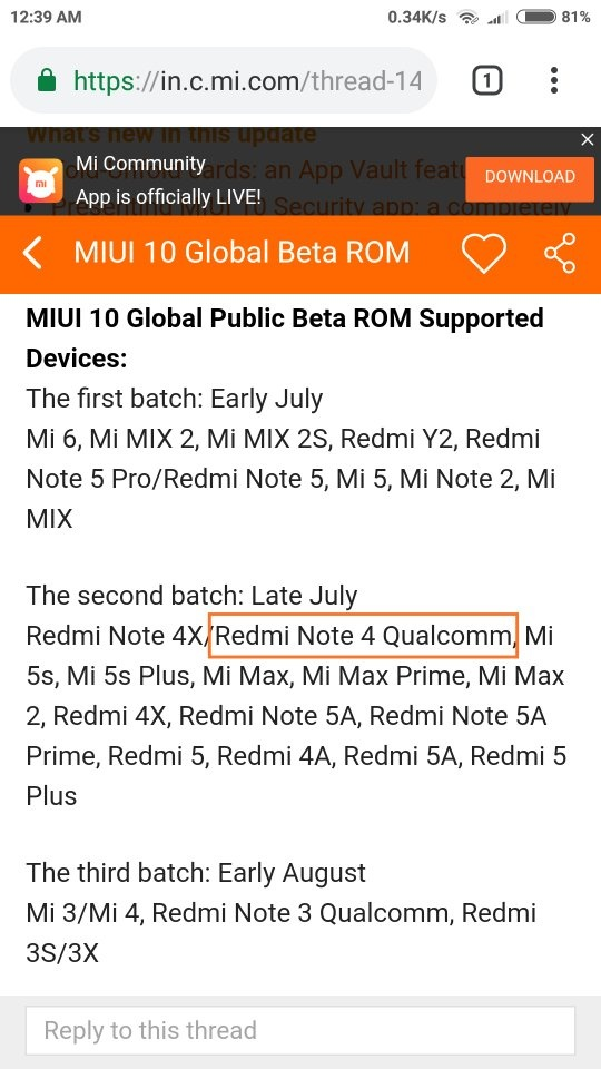 Will the Redmi Note 4 get MIUI 10 in the future? - Quora