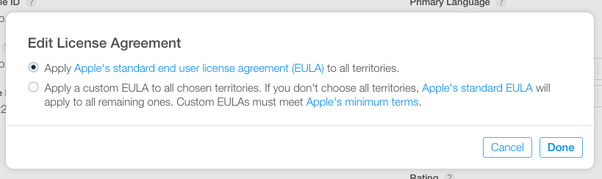 Does apple provide boilerplate terms of service agreements for ios this is how youll find the spot with the option to insert custom rules platinumwayz