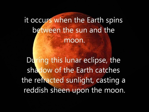 What Does The Term Blood On The Moon Mean Quora