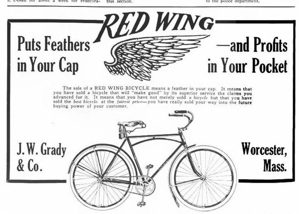 why did old bikes have large front wheels