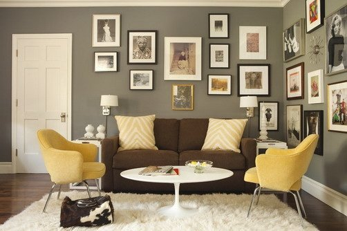 How to decorate a brown sofa and dark flooring - Quora