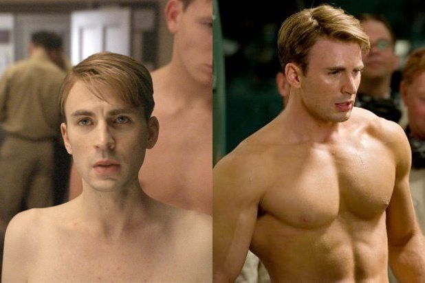 The serum didn't help Steve to undergo the extreme transformation of his physical appearance.