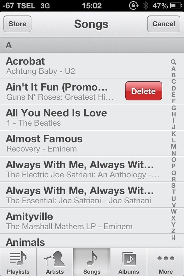 how to delete u2 album from iphone 4