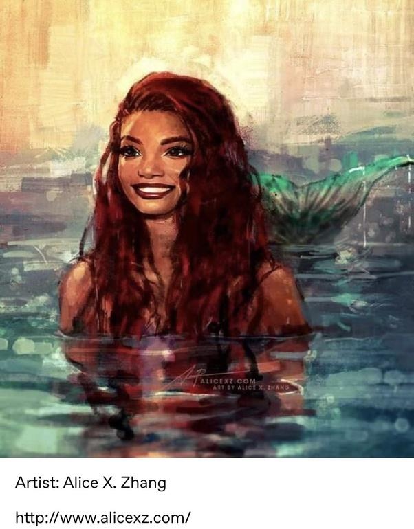 Black /& White Film Star Mermaid Top